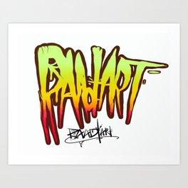 Raad Art Logotype Art Print