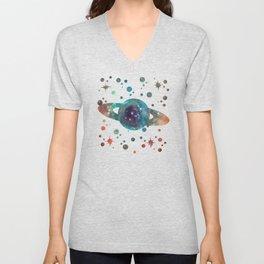 Colorful Nebula Galaxy Unisex V-Neck