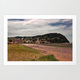 Minehead, Somerset, England Art Print