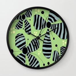 FLOWERY ZOE / ORIGINAL DANISH DESIGN bykazandholly Wall Clock