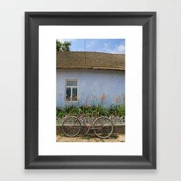 Bike Rest Framed Art Print