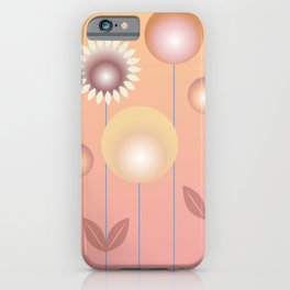 Design with flowers, abstract flower meadow, spring and summer iPhone Case