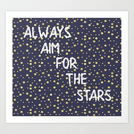 Always Aim For The Stars Wall Tapestry Art Print