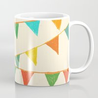 flag Mugs featuring Carnival is coming to town by Picomodi