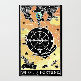 Tarot Wheel of Fortune Canvas Print