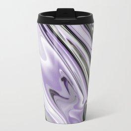 Ultra Violet Silver and Lilac Abstract Marble Vector Travel Mug