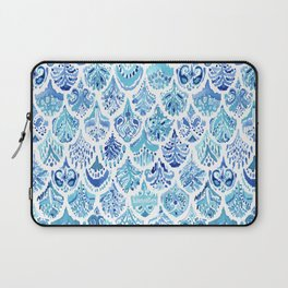 PAISLEY MERMAID Watercolor Scale Pattern Laptop Sleeve