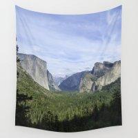 yosemite Wall Tapestries featuring Yosemite Valley by Seafarer  Studio