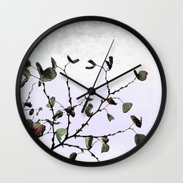 abstract cold leaves Wall Clock