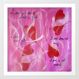 Love is.... Art Print