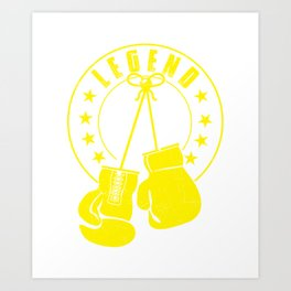 Legend Boxing Yellow Art Print