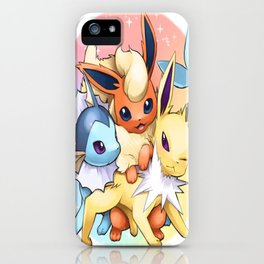 Jolteon Vaporeon and Flareon iPhone Case