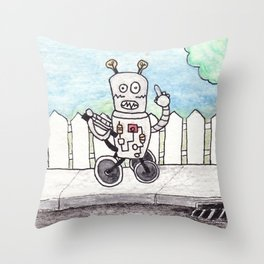 learning to signal Throw Pillow