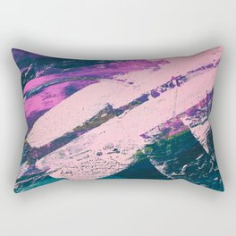 Wonder. - A vibrant minimal abstract piece in jewel tones by Alyssa Hamilton Art Rectangular Pillow