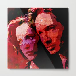 TXF - Mulder and Scully  Metal Print
