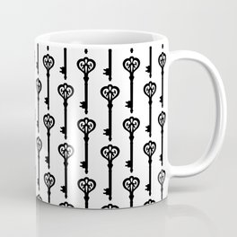 Old Black Brass Keys Pattern Coffee Mug