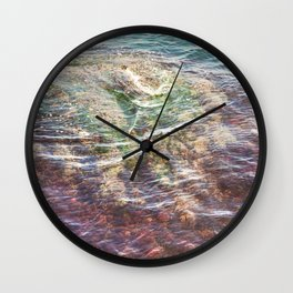 Colorful Ocean Wading Wall Clock