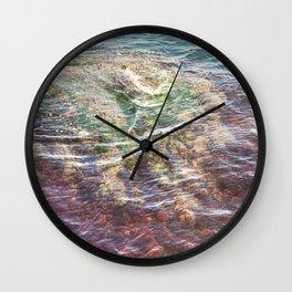 Colorful Ocean Wading Wall Clock