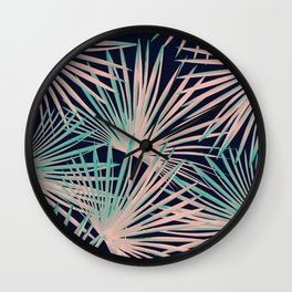 Tropical Fan Palm Leaves #5 #tropical #decor #art #society6 Wall Clock