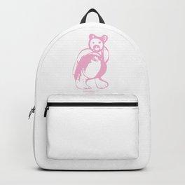 Pink bear Backpack