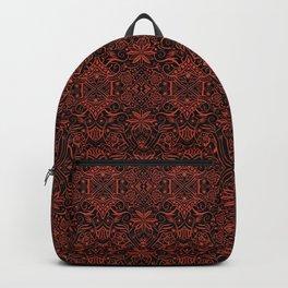 Greek Arabesque,  Bohemian Pattern, Baroque Terracotta Backpack