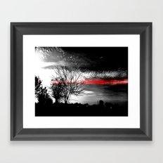 The red line Framed Art Print