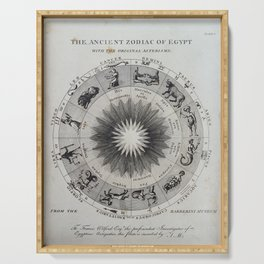 The Ancient Zodiac of Egypt with the original Asterisms Serving Tray