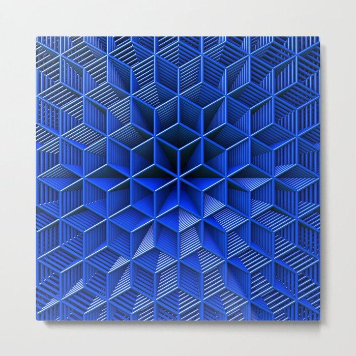 It's Blue Metal Print