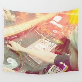 London DJ Film Photography Wall Tapestry