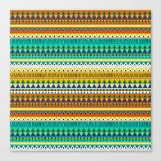 Aztec Indigo Canvas Print