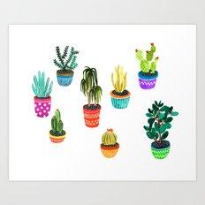 Cacti by Veronique de Jong Art Print
