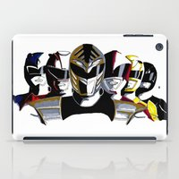 power rangers iPad Cases featuring Power Rangers by SquidInkDesigns