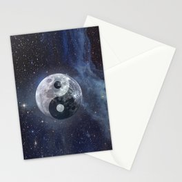 Yin Yang Moon Stationery Cards