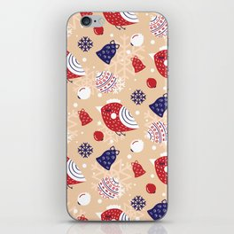 Merry pattern iPhone Skin