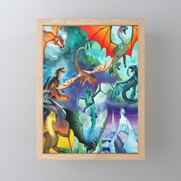 Wings-Of-Fire all dragon Framed Mini Art Print