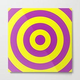 Target (Purple & Yellow Pattern) Metal Print