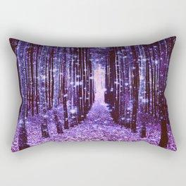 Magical Forest Purple Rectangular Pillow