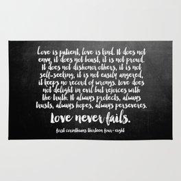 Love Never Fails Rug