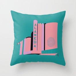 Alameda Theater Throw Pillow