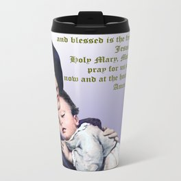 Prayer to Virgin Mary Metal Travel Mug