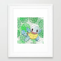 squirtle Framed Art Prints featuring Squirtle by Mischievie