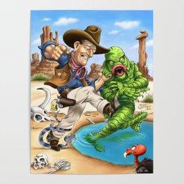 John Wayne VS. The Creature From The Black Lagoon Poster