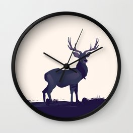 Stag ink Wall Clock