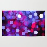 bokeh Area & Throw Rugs featuring Bokeh by Alyson Cornman Photography