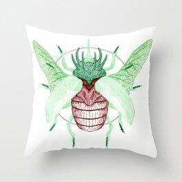 Thorned Atlas Beetle Throw Pillow