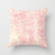 Shabby Arabesque Pattern Throw Pillow