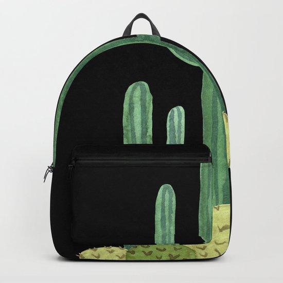 Desert Cacti on Black Backpack