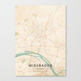 Wiesbaden, Germany - Vintage Map Canvas Print