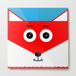 Zowie, the Fox Metal Print