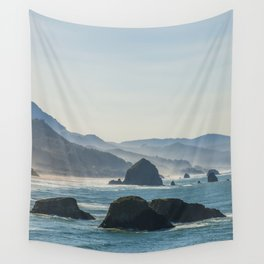 Haystack Rock from Crescent Point Wall Tapestry